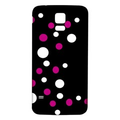 Pink And White Dots Samsung Galaxy S5 Back Case (white) by Valentinaart