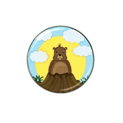 Groundhog Day  Hat Clip Ball Marker (4 Pack) by Valentinaart