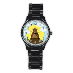 Groundhog Day  Stainless Steel Round Watch by Valentinaart