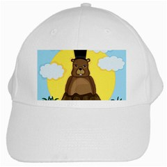 Groundhog White Cap by Valentinaart
