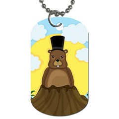 Groundhog Dog Tag (two Sides) by Valentinaart