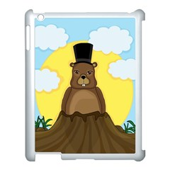 Groundhog Apple Ipad 3/4 Case (white) by Valentinaart
