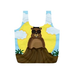 Happy Groundhog Day Full Print Recycle Bags (s)  by Valentinaart