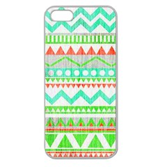 Cute Bohemian Apple Seamless Iphone 5 Case (clear) by Brittlevirginclothing