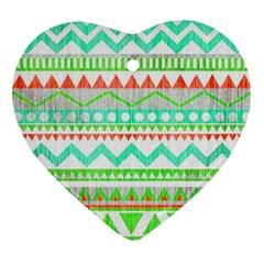 Cute Bohemian  Ornament (heart)  by Brittlevirginclothing