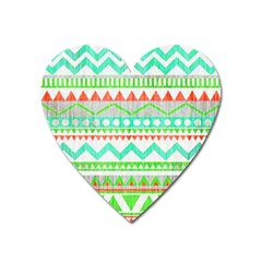 Cute Bohemian  Heart Magnet by Brittlevirginclothing