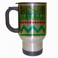 Cute Bohemian  Travel Mug (silver Gray) by Brittlevirginclothing