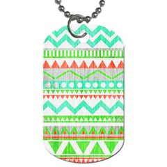 Cute Bohemian Dog Tag (one Side) by Brittlevirginclothing