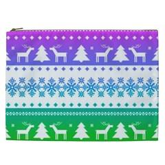 Cute Rainbow Bohemian Cosmetic Bag (xxl)  by Brittlevirginclothing