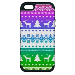 Cute Rainbow Bohemian Apple Iphone 5 Hardshell Case (pc+silicone) by Brittlevirginclothing
