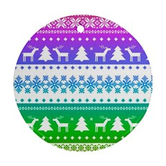 Cute Rainbow Bohemian Ornament (round)  by Brittlevirginclothing