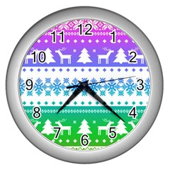Cute Rainbow Bohemian Wall Clocks (silver)  by Brittlevirginclothing