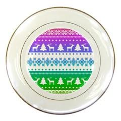 Cute Rainbow Bohemian Porcelain Plates by Brittlevirginclothing
