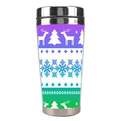 Cute Rainbow Bohemian Stainless Steel Travel Tumblers by Brittlevirginclothing