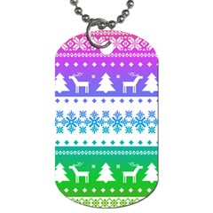 Cute Rainbow Bohemian Dog Tag (two Sides) by Brittlevirginclothing