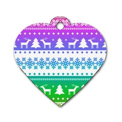 Cute Rainbow Bohemian Dog Tag Heart (one Side) by Brittlevirginclothing