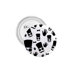 Gentlemen   Black And White 1 75  Buttons by Valentinaart