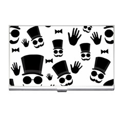 Gentlemen   Black And White Business Card Holders by Valentinaart
