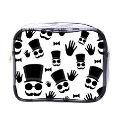 Gentlemen   Black And White Mini Toiletries Bags by Valentinaart