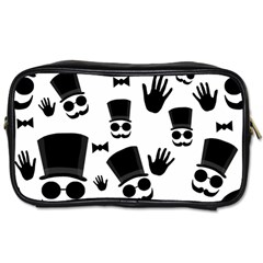 Gentlemen   Black And White Toiletries Bags by Valentinaart