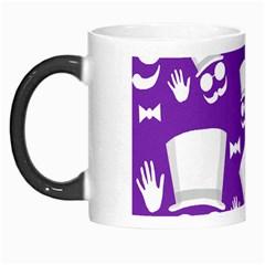 Gentleman Pattern   Purple And White Morph Mugs by Valentinaart