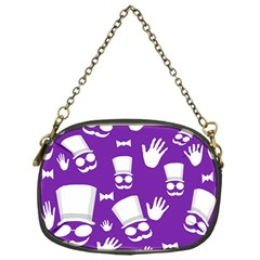 Gentleman Pattern   Purple And White Chain Purses (one Side)  by Valentinaart