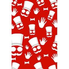 Gentlemen   Red And White Pattern 5 5  X 8 5  Notebooks by Valentinaart