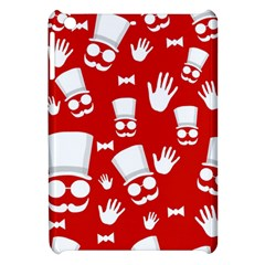 Gentlemen   Red And White Pattern Apple Ipad Mini Hardshell Case by Valentinaart
