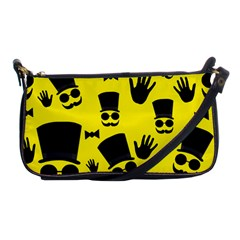 Gentlemen   Yellow Pattern Shoulder Clutch Bags by Valentinaart