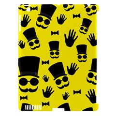 Gentlemen   Yellow Pattern Apple Ipad 3/4 Hardshell Case (compatible With Smart Cover) by Valentinaart