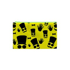 Gentlemen   Yellow Pattern Cosmetic Bag (xs) by Valentinaart