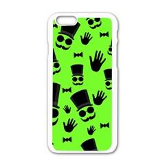 Gentleman   Green Pattern Apple Iphone 6/6s White Enamel Case by Valentinaart