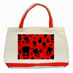 Gentlemen   Red Classic Tote Bag (red) by Valentinaart