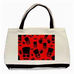 Gentlemen   Red Basic Tote Bag (two Sides) by Valentinaart