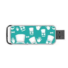 Gentleman Pattern Portable Usb Flash (two Sides) by Valentinaart