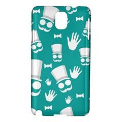 Gentleman Pattern Samsung Galaxy Note 3 N9005 Hardshell Case by Valentinaart