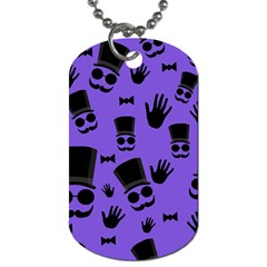 Gentleman Purple Pattern Dog Tag (two Sides) by Valentinaart