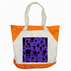 Gentleman Purple Pattern Accent Tote Bag by Valentinaart