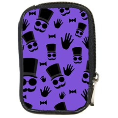 Gentleman Purple Pattern Compact Camera Cases by Valentinaart