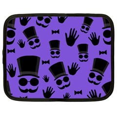 Gentleman Purple Pattern Netbook Case (xl)  by Valentinaart
