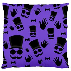 Gentleman Purple Pattern Large Flano Cushion Case (one Side) by Valentinaart