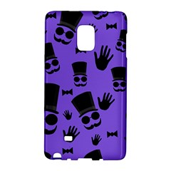 Gentleman Purple Pattern Galaxy Note Edge by Valentinaart