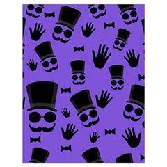 Gentleman Purple Pattern Drawstring Bag (large) by Valentinaart