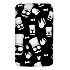 Gentleman   Black And White Pattern Samsung Galaxy Tab 3 (7 ) P3200 Hardshell Case  by Valentinaart