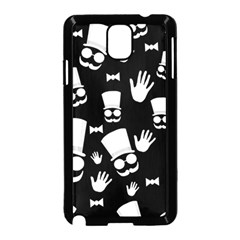 Gentleman   Black And White Pattern Samsung Galaxy Note 3 Neo Hardshell Case (black) by Valentinaart