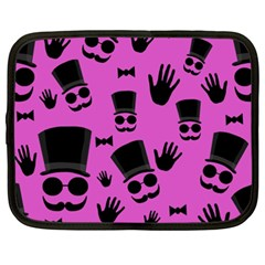 Gentleman   Magenta Pattern Netbook Case (xxl)  by Valentinaart