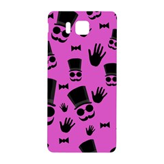 Gentleman   Magenta Pattern Samsung Galaxy Alpha Hardshell Back Case by Valentinaart