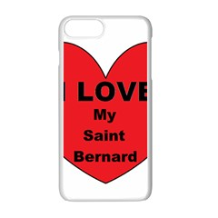 St Bernard Love Apple iPhone 7 Plus White Seamless Case by TailWags