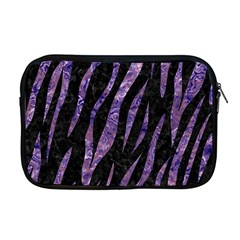 Skin3 Black Marble & Purple Marble Apple Macbook Pro 17  Zipper Case by trendistuff