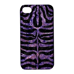 Skin2 Black Marble & Purple Marble Apple Iphone 4/4s Hardshell Case With Stand by trendistuff